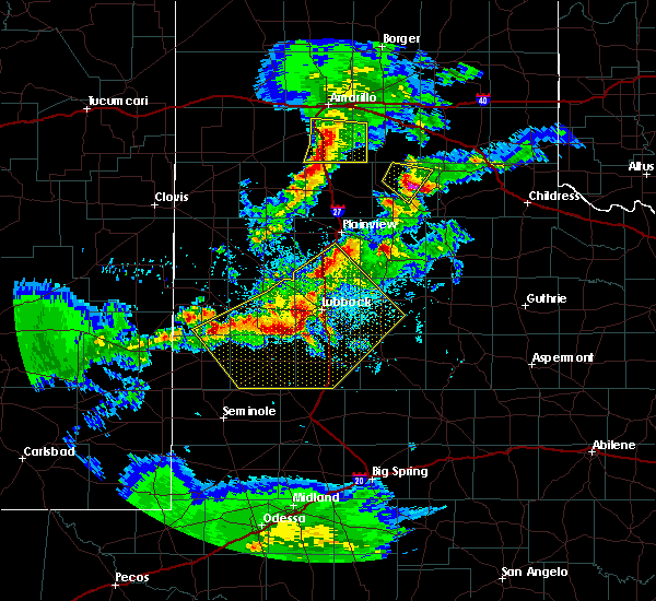 Radar Image for Severe Thunderstorms near New Deal, TX at 5/11/2020 9:09 PM CDT