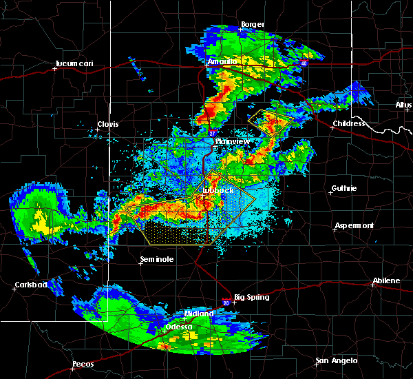 Radar Image for Severe Thunderstorms near New Deal, TX at 5/11/2020 9:28 PM CDT