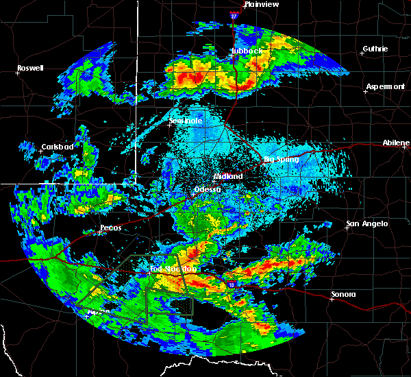 Radar Image for Severe Thunderstorms near Odessa, TX at 5/11/2020 10:09 PM CDT