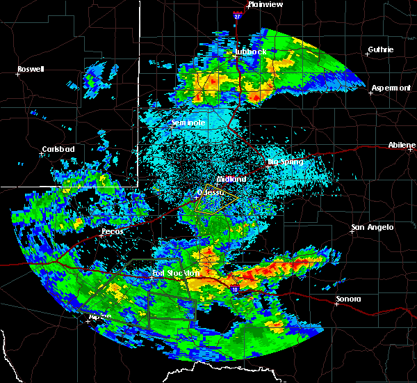 Radar Image for Severe Thunderstorms near Odessa, TX at 5/11/2020 10:29 PM CDT