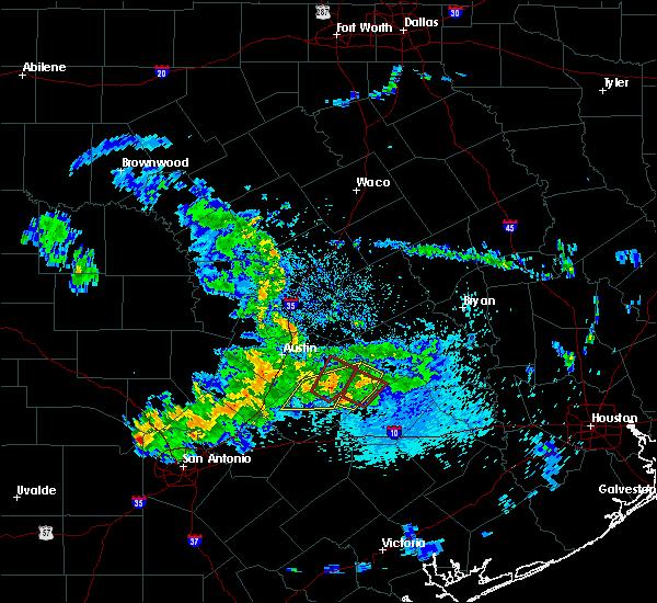 Radar Image for Severe Thunderstorms near Bastrop, TX at 5/12/2020 10:37 AM CDT