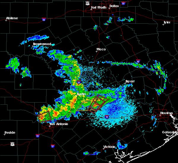 Radar Image for Severe Thunderstorms near Circle D-KC Estates, TX at 5/12/2020 10:56 AM CDT