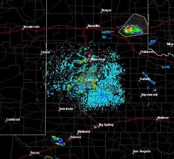 Radar Image for Severe Thunderstorms near New Deal, TX at 5/13/2020 4:14 PM CDT