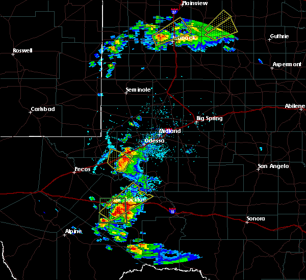 Radar Image for Severe Thunderstorms near Odessa, TX at 5/13/2020 5:17 PM CDT