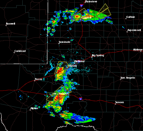 Radar Image for Severe Thunderstorms near Odessa, TX at 5/13/2020 5:25 PM CDT