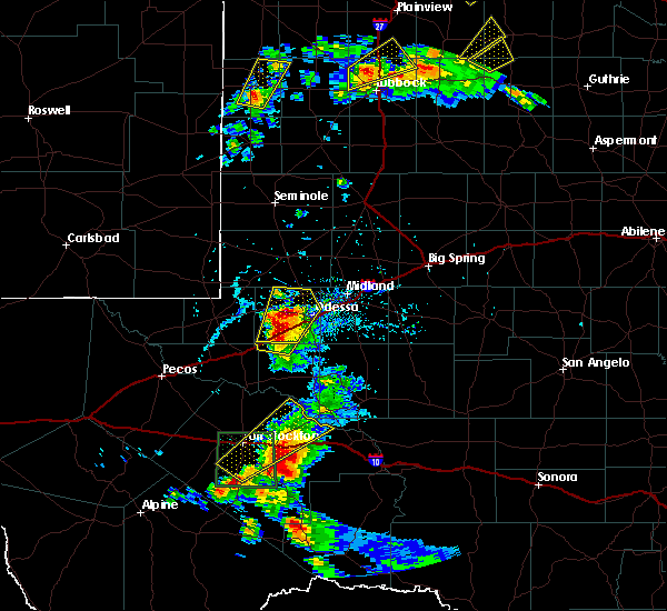 Radar Image for Severe Thunderstorms near Odessa, TX at 5/13/2020 5:35 PM CDT