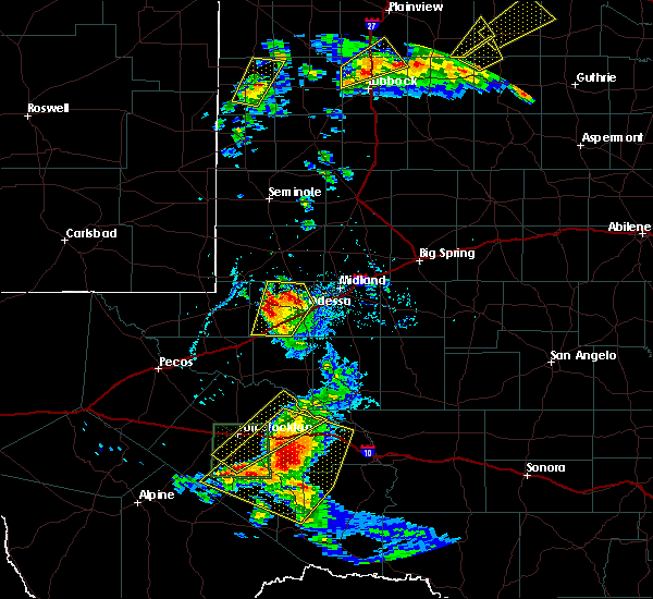 Radar Image for Severe Thunderstorms near Odessa, TX at 5/13/2020 5:49 PM CDT