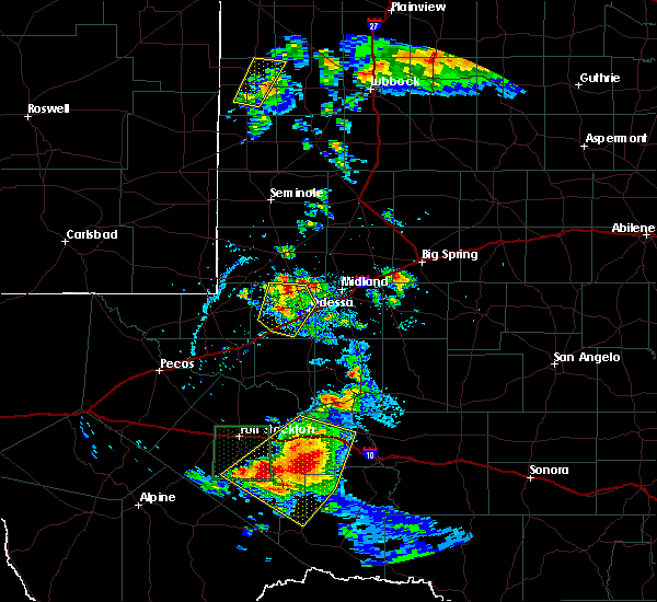Radar Image for Severe Thunderstorms near Odessa, TX at 5/13/2020 6:07 PM CDT