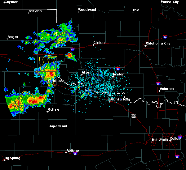 Radar Image for Severe Thunderstorms near Sayre, OK at 5/13/2020 6:54 PM CDT
