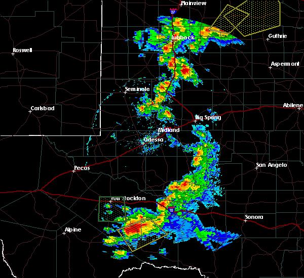 Radar Image for Severe Thunderstorms near Sanderson, TX at 5/13/2020 7:09 PM CDT