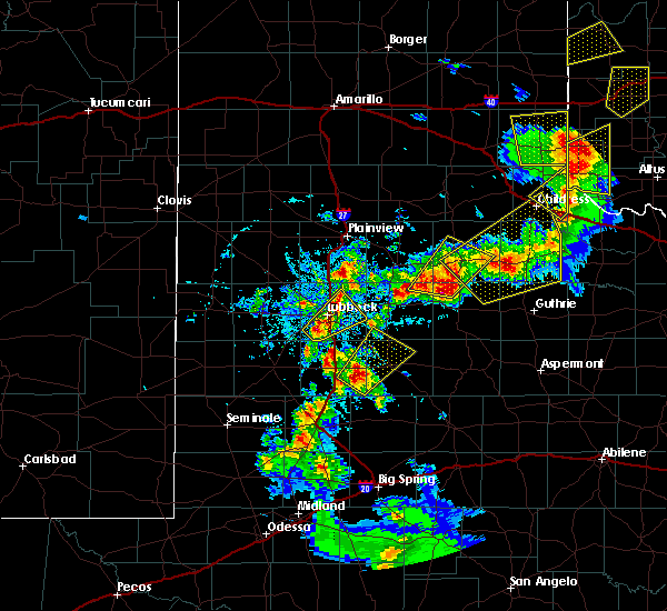 Radar Image for Severe Thunderstorms near Post, TX at 5/13/2020 7:16 PM CDT