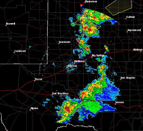 Radar Image for Severe Thunderstorms near Gail, TX at 5/13/2020 7:43 PM CDT