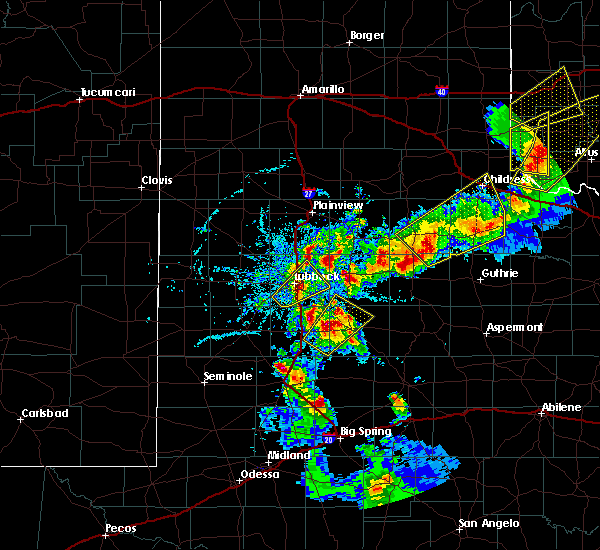 Radar Image for Severe Thunderstorms near Post, TX at 5/13/2020 7:42 PM CDT