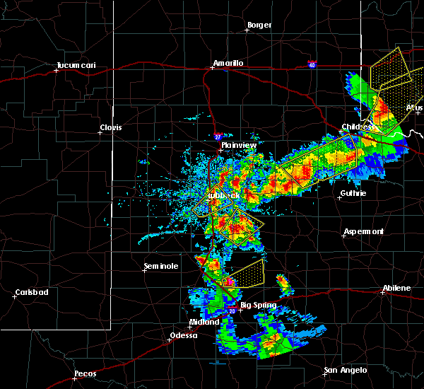 Radar Image for Severe Thunderstorms near New Deal, TX at 5/13/2020 7:50 PM CDT