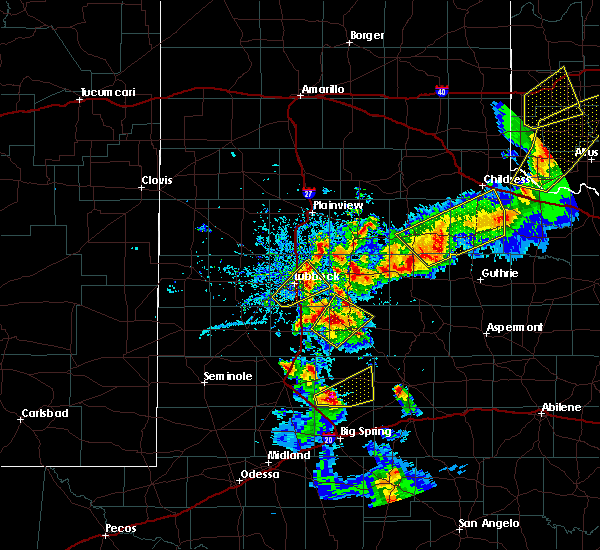 Radar Image for Severe Thunderstorms near Roaring Springs, TX at 5/13/2020 7:50 PM CDT