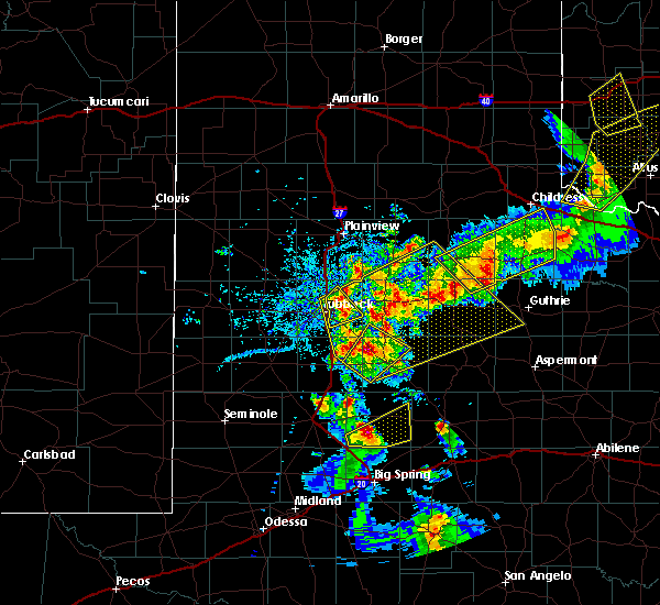 Radar Image for Severe Thunderstorms near Roaring Springs, TX at 5/13/2020 7:56 PM CDT