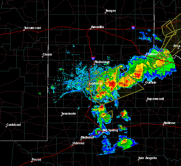 Radar Image for Severe Thunderstorms near Gail, TX at 5/13/2020 8:15 PM CDT