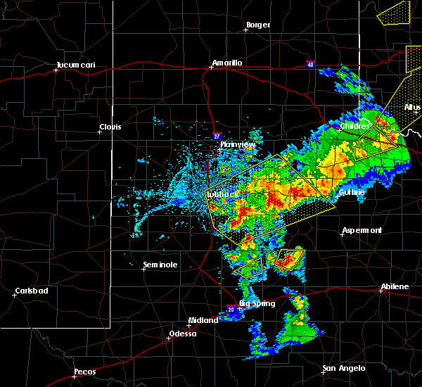 Radar Image for Severe Thunderstorms near Roaring Springs, TX at 5/13/2020 8:33 PM CDT