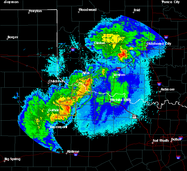 Radar Image for Severe Thunderstorms near Chillicothe, TX at 5/13/2020 10:23 PM CDT