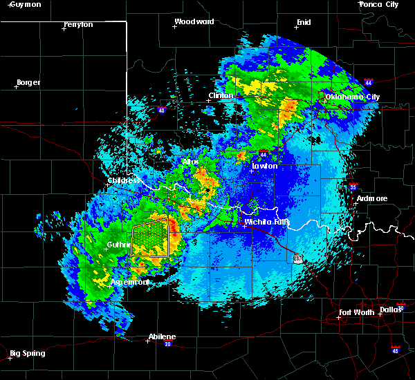 Radar Image for Severe Thunderstorms near Benjamin, TX at 5/13/2020 10:53 PM CDT