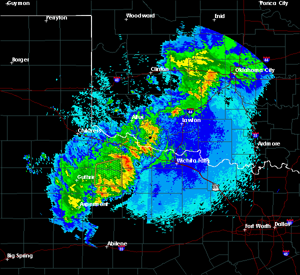 Radar Image for Severe Thunderstorms near Electra, TX at 5/13/2020 11:00 PM CDT