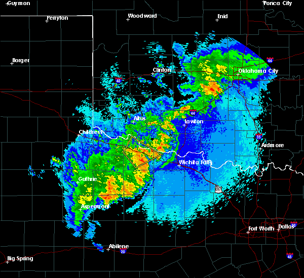 Radar Image for Severe Thunderstorms near Electra, TX at 5/13/2020 11:16 PM CDT