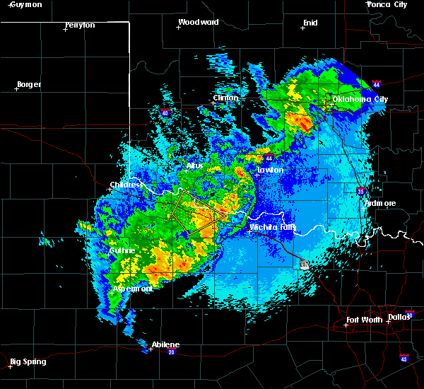Radar Image for Severe Thunderstorms near Electra, TX at 5/13/2020 11:26 PM CDT