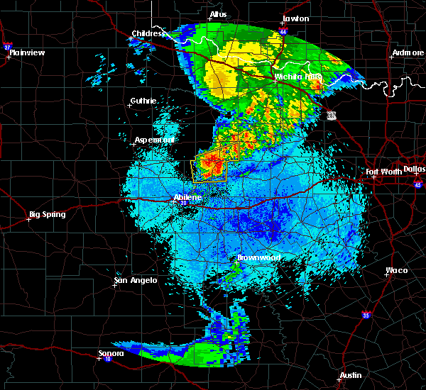 Radar Image for Severe Thunderstorms near Woodson, TX at 5/14/2020 1:24 AM CDT