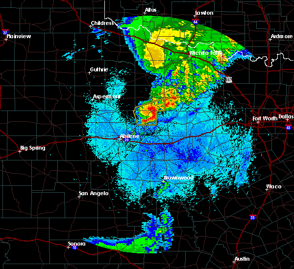 Radar Image for Severe Thunderstorms near Woodson, TX at 5/14/2020 1:30 AM CDT