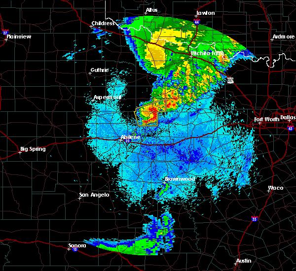 Radar Image for Severe Thunderstorms near Graham, TX at 5/14/2020 1:34 AM CDT