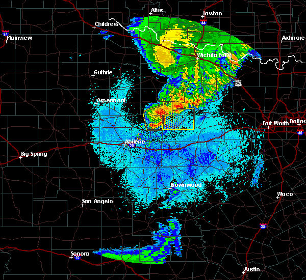 Radar Image for Severe Thunderstorms near Woodson, TX at 5/14/2020 1:44 AM CDT