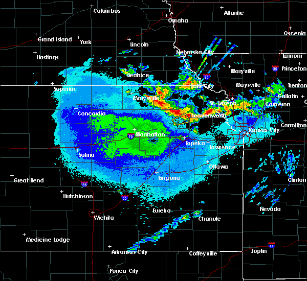 Radar Image for Severe Thunderstorms near Denison, KS at 5/14/2020 2:53 AM CDT