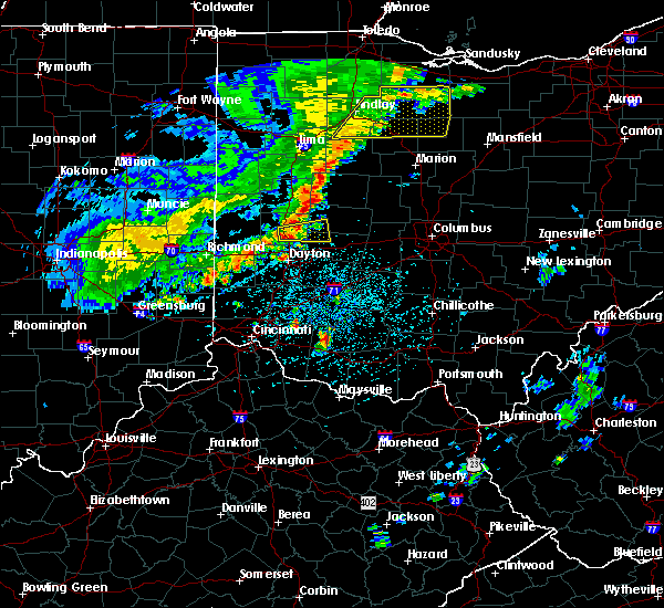 Radar Image for Severe Thunderstorms near St. Paris, OH at 5/14/2020 4:58 PM EDT