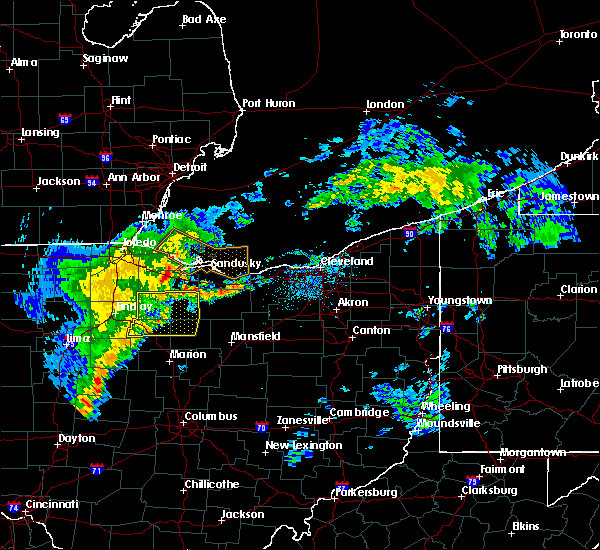 Radar Image for Severe Thunderstorms near Green Springs, OH at 5/14/2020 5:03 PM EDT