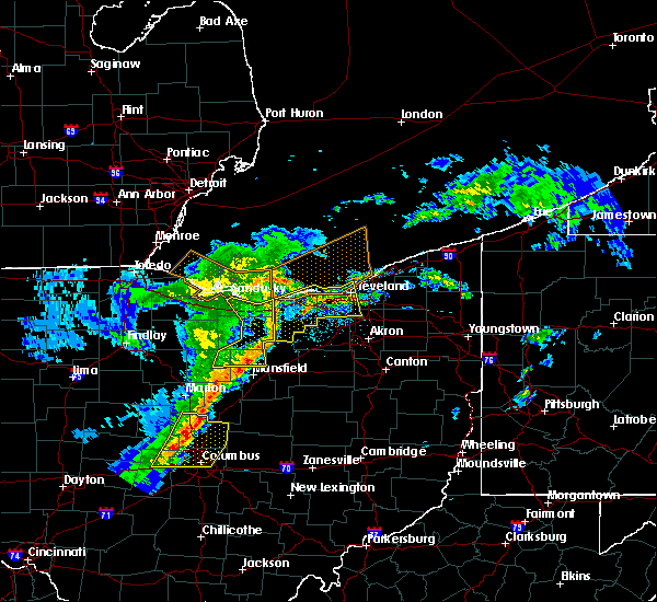 Radar Image for Severe Thunderstorms near Oberlin, OH at 5/14/2020 6:00 PM EDT