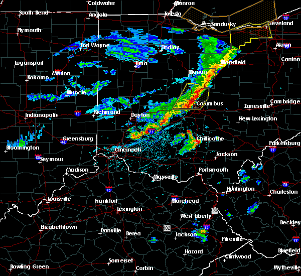 Radar Image for Severe Thunderstorms near Shawnee Hills, OH at 5/14/2020 6:08 PM EDT