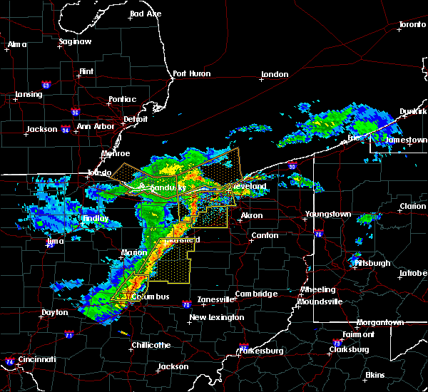 Radar Image for Severe Thunderstorms near Bay Village, OH at 5/14/2020 6:15 PM EDT