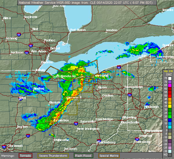 Radar Image for Severe Thunderstorms near Westfield Center, OH at 5/14/2020 6:17 PM EDT