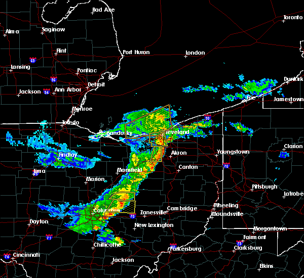 Radar Image for Severe Thunderstorms near Bay Village, OH at 5/14/2020 6:44 PM EDT