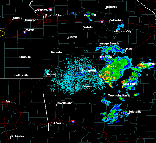Radar Image for Severe Thunderstorms near Norwood, MO at 5/14/2020 6:36 PM CDT