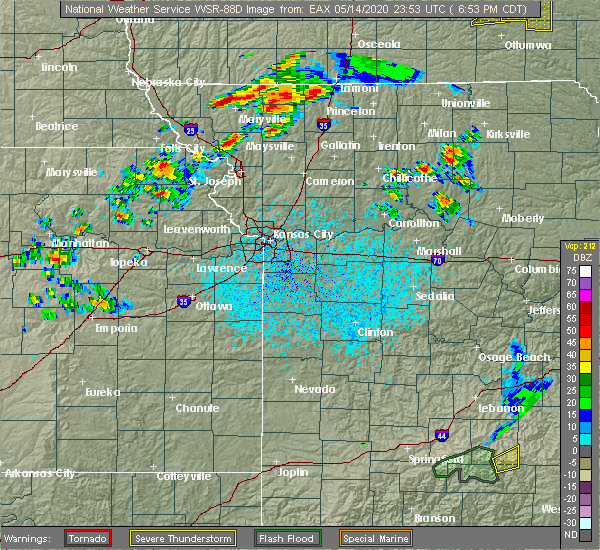 Radar Image for Severe Thunderstorms near Brookfield, MO at 5/14/2020 7:05 PM CDT