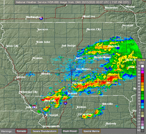 Radar Image for Severe Thunderstorms near Chillicothe, IA at 5/14/2020 7:14 PM CDT