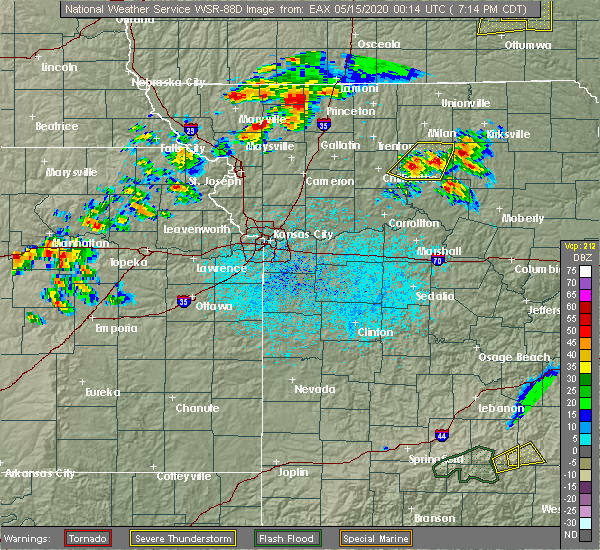 Radar Image for Severe Thunderstorms near Callao, MO at 5/14/2020 7:22 PM CDT