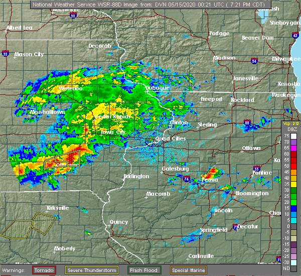 Radar Image for Severe Thunderstorms near Packwood, IA at 5/14/2020 7:27 PM CDT