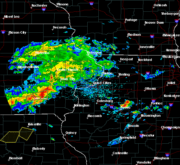 Radar Image for Severe Thunderstorms near Ollie, IA at 5/14/2020 7:29 PM CDT