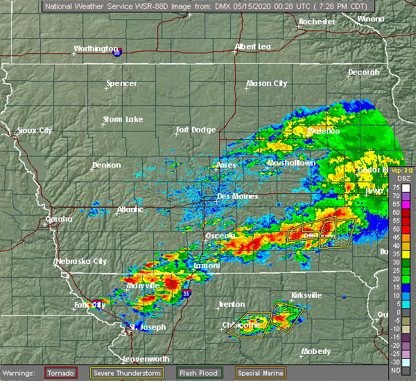 Radar Image for Severe Thunderstorms near Ridgeway, MO at 5/14/2020 7:31 PM CDT