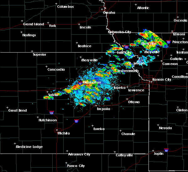 Radar Image for Severe Thunderstorms near Carlton, KS at 5/14/2020 7:31 PM CDT