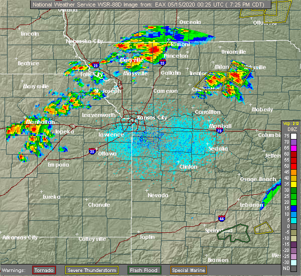 Radar Image for Severe Thunderstorms near Winigan, MO at 5/14/2020 7:33 PM CDT