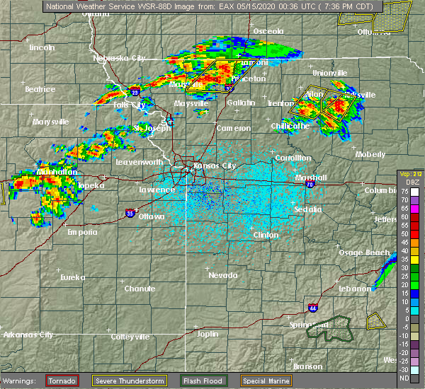 Radar Image for Severe Thunderstorms near Gibbs, MO at 5/14/2020 7:40 PM CDT