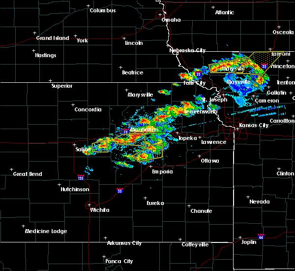 Radar Image for Severe Thunderstorms near White City, KS at 5/14/2020 8:18 PM CDT